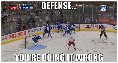 defense doing it wrong