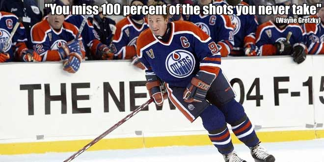 you miss 10)% of the shots you don't take