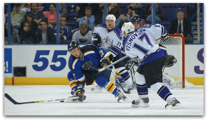 blocking shots in ice hockey