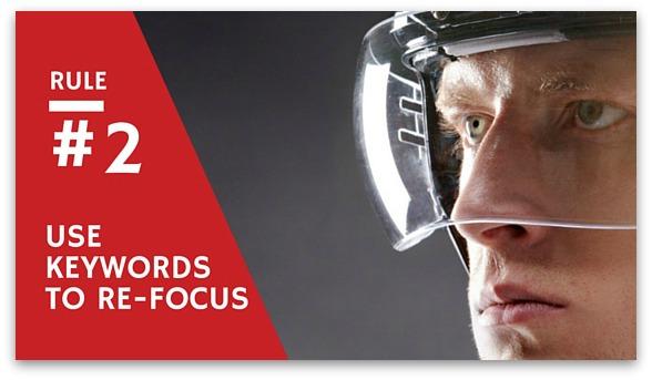 using keywords to refocus in hockey