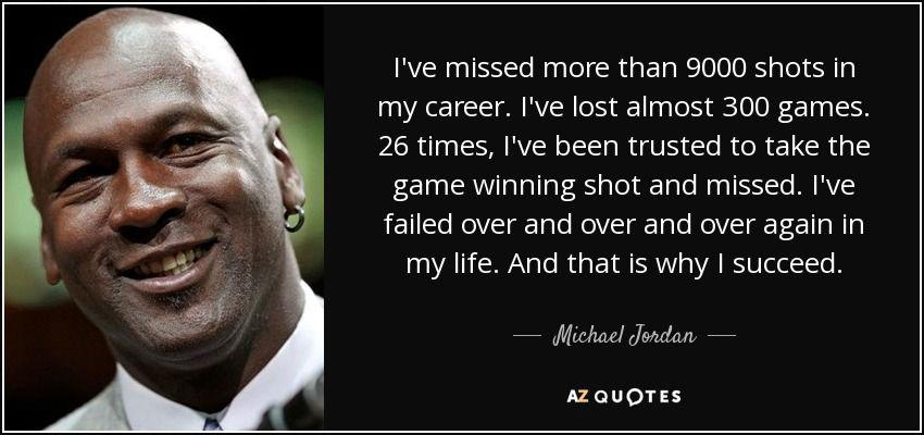 Michale Jordan on failure
